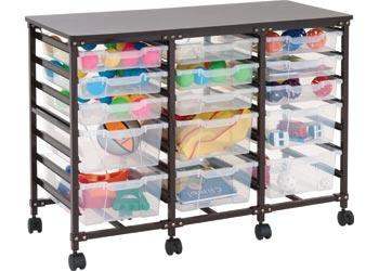 Ergerite Triple Storage System With 15 Plastic Trays