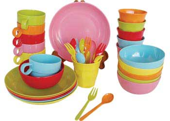 Real Colourful Dinnerware Setting \u2013 Assorted -36 pieces  sc 1 st  Modern Teaching Aids : colourful dinnerware - pezcame.com
