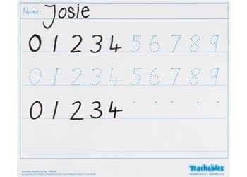 Teachables Whiteboard Number Tracing Pack of 30