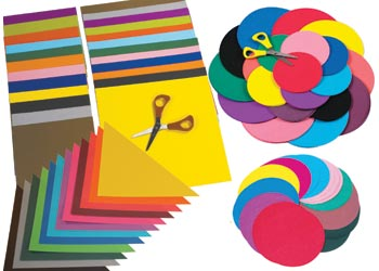 coloured paper shapes paper cardboard art craft