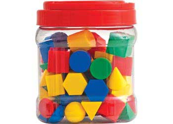 Geometric Shapes in Jar – Set of 80pc