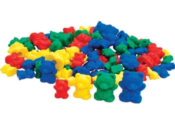 Teddy Bear Counters – Set of 96 pieces in Jar