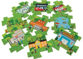Bee-Bot Road Maze Tiles – Town