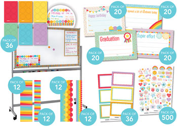 Classroom Decor Kit Rainbow Mta Catalogue