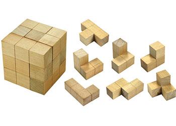 Soma Cube Wooden 7 Piece Cube Mta Catalogue