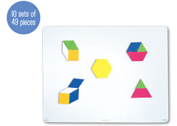 Magnetic Pattern Blocks 49pc U2013 10 Sets   Magnetic Pattern Blocks U0026 Tangrams