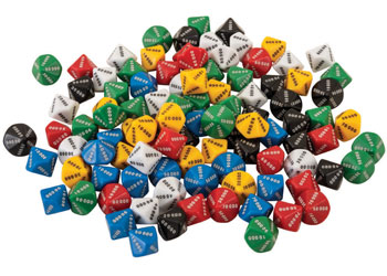 0.0-0.9 x 6 Learning Resource Dice 10 Face