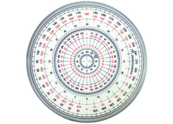 picture regarding 360 Degree Protractor Printable identified as Protractor 360 amount Innovative every single - MTA Catalogue