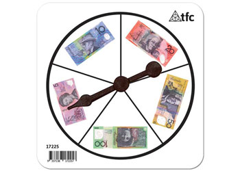 Money Notes Spinner 5 Section – $5 – $100