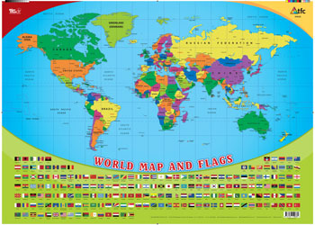 map of the world flags chart 495695cm science posters