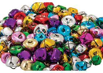 Christmas Bells in Assorted Colours & Sizes – Pack of 150