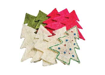 Christmas Fibre Trees 17.5cm Pack of 10