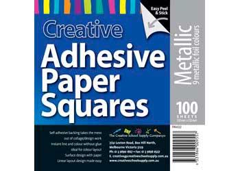 Adhesive Metallic Paper Squares 15cm – Pack of 100