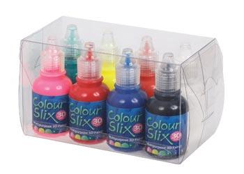 Colour Slix 3D Paint – Pack of 8