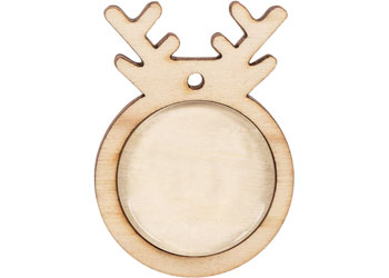 Wooden Reindeer Ornaments – Pack of 10