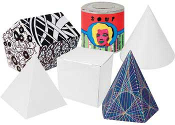 3D Geometric Shapes Cardboard Boxes – Pack of 30 - MTA Catalogue