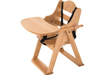 Elegant Wooden Low Feeding Chair