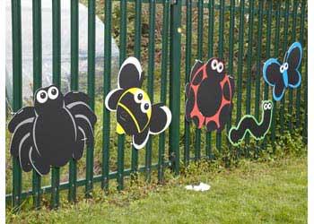 Beautiful Large Outdoor Blackboard Bugs Set Of 5