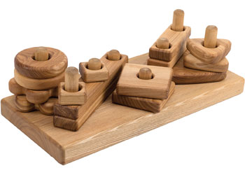 56f3daabb4b98 Wooden Stack   Build Block Set - Toddler Construction