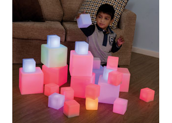 Glowing Sensory Blocks – 12 pieces