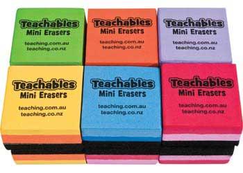 Teachables Mini Whiteboard Erasers – Pack of 12 - MTA Catalogue