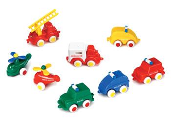 Viking Toys Mini Chubbies Rescue Cars Cdu36 Mta