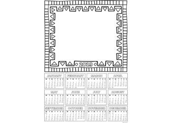 Calendar Blanks 2019 – Pack of 25