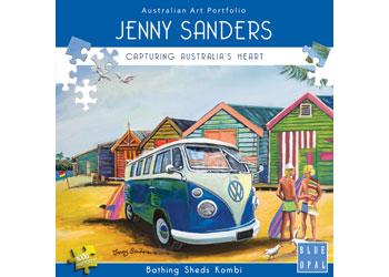 Blue Opal - Jenny Sanders Bathing Sheds Kombi 1000pc Puzzle