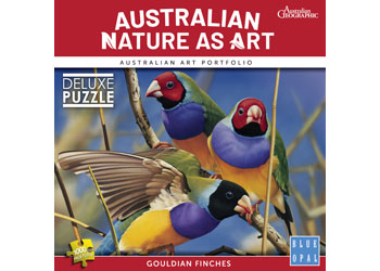 Blue Opal - Aust Geographic Gouldian Finches 1000pc Puzzle