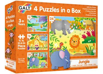 Galt - 4 Puzzles in a Box - Jungle