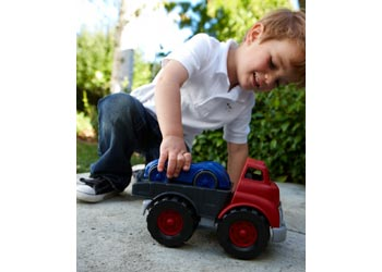 Green Toys - Flatbed with Red Race Car