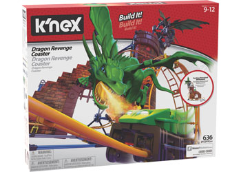 K'NEX - Dragon Revenge Roller Coaster - Ride It