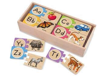 M&D - Alphabet Wooden Puzzle Cards