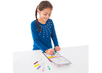 M&D – On The Go – Stained Glass Colouring Pad – Fairy Tale
