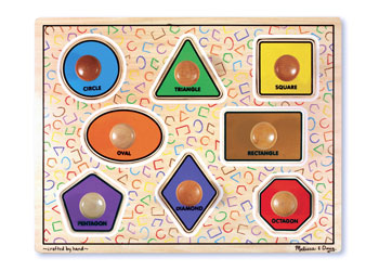 Melissa & Doug – Large Shapes Jumbo Knob Puzzle – 8pc