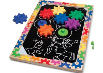 Melissa & Doug -Switch & Spin Magnetic Gear Board