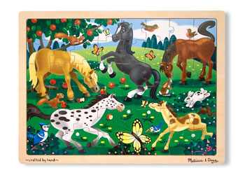 Melissa & Doug – Frolicking Horses Jigsaw – 48pc