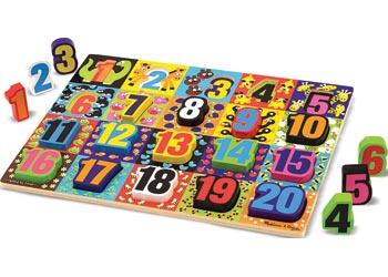 Melissa & Doug – Jumbo Numbers Chunky Puzzle 20 Pieces