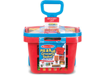 M&D - Fill & Roll Grocery Basket Play Set