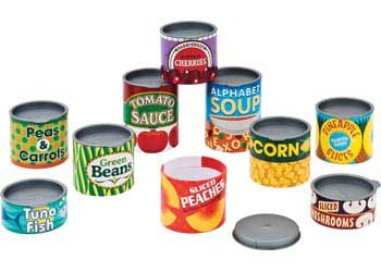 M&D – Play Food Cans – Set of 10