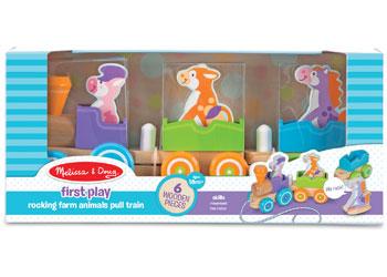 M&D - First Play - Rocking Farm Animals Pull Train