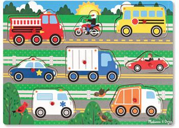 M&D - Vehicles Peg Puzzle