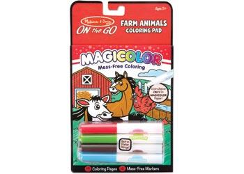 M&D – On The Go – Magicolor – Colouring Pad – Farm Animals