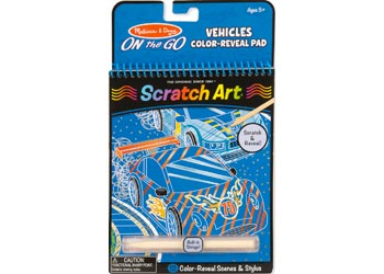 M&D – On The Go – Scratch Art – Vehicles