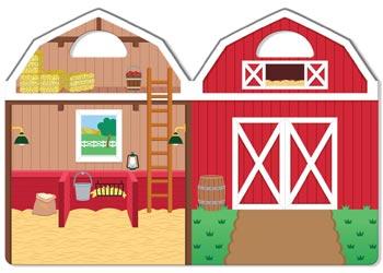 M&D – Reusable Puffy Sticker Play Set – Farm