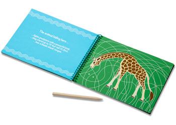 M&D – On The Go – Scratch Art – Safari Animals Hidden-Picture Pad