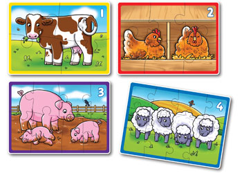 Orchard Jigsaw - Farm 4 in a Box 4, 6, 8 & 12 pieces