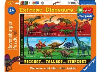 Ravensburger - Extreme Dinosaurs Puzzle SuperSize 60pc
