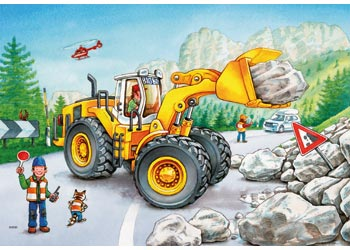Ravensburger - Diggers at Work Puzzle 2x24 pieces