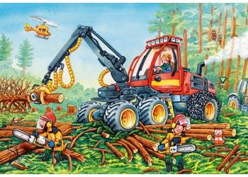 Ravensburger - Diggers at Work Puzzle 2x24pc